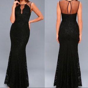 Lulus Amazing Lace Black Lace Maxi Dress